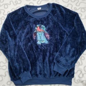Disney Lilo and Stitch fleece sweater size S